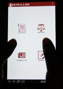 Kenya Law Mobile app screenshot