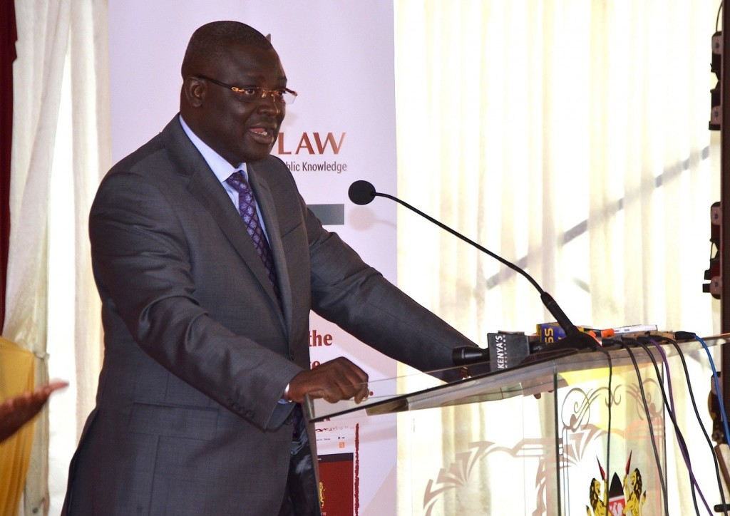 Mamadou Biteye, Managing Director the Rockefeller Foundation delivering his speech during the External Launch