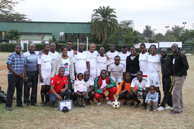 The Kenya Law team during the 16th edition of the Annual Justice Cup held at Parklands Sports Club on t 26th July, 2014.