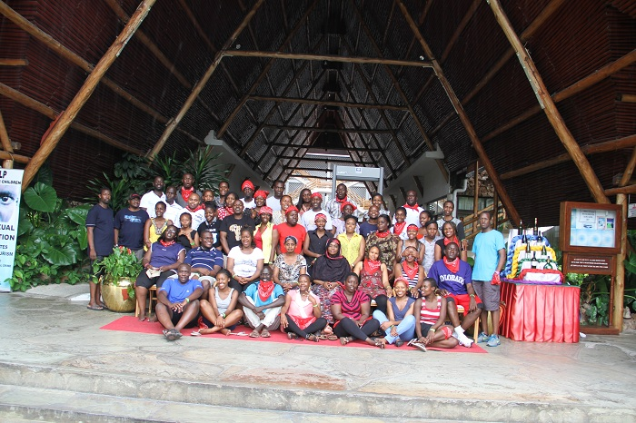 The Kenya Law team during the 2014 team building event at Travellers beach Hotel, Mombasa.