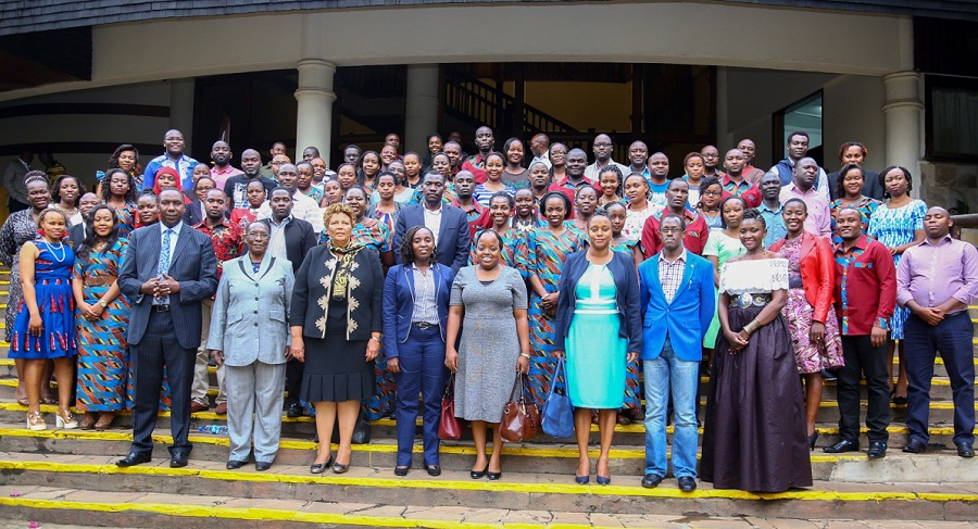 Kenya Law staff and Council members pose for a picture after the 7th Annual staff conference on 15th September 2017.